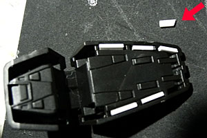 HGガンダムMk-2足の裏穴埋め